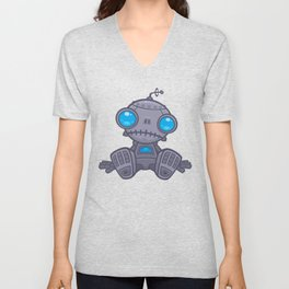 Sad Robot Unisex V-Neck