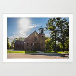 Holy Trinity Catholic Church, Fingal, North Dakota 3 Art Print