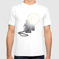 Vintage Twin Lens Reflex Camera White Mens Fitted Tee X-LARGE