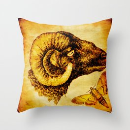 The mystic sheep Throw Pillow