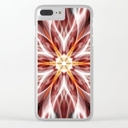 Burning hot electric flower Clear iPhone Case