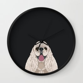 Harper - Cocker Spaniel phone case gifts for dog people dog lovers presents Wall Clock