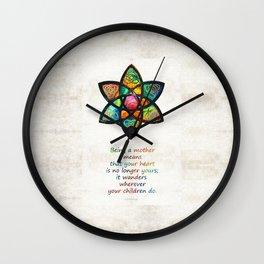 Mother Mom Art - Wandering Heart - By Sharon Cummings Wall Clock