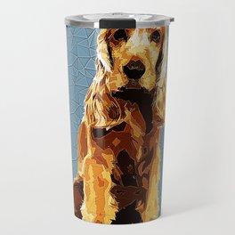 Cocker Spaniel Polygonal Art Travel Mug