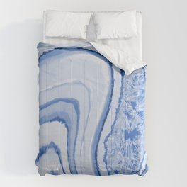 Blue Crystal Watercolor Effect Design Comforters