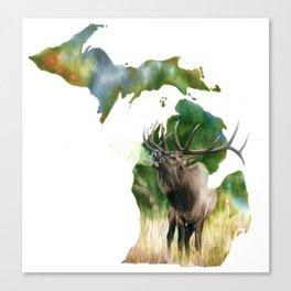 Michigan Elk Canvas Print