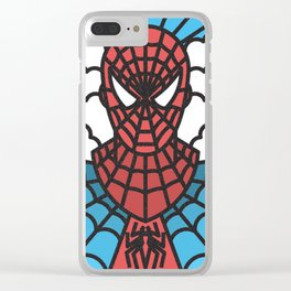 Spider Man Thick Lines Clear iPhone Case