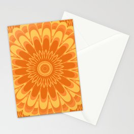 Summer In Full Bloom - Orange Mandala Stationery Cards