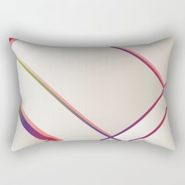 Rainbow Grids Rectangular Pillow