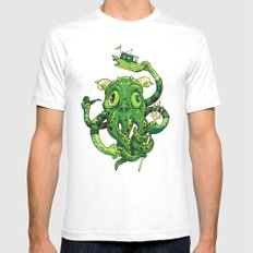 Sir Charles Cthulhu SMALL White Mens Fitted Tee
