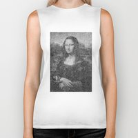 mona lisa Biker Tanks featuring Mona Lisa by The Invisible Shop