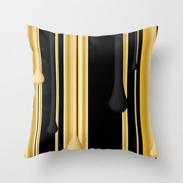 DRIPPING IN GOLD Throw Pillow