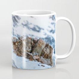 Kea parrot bird in the snow mountains of New Zealand Coffee Mug
