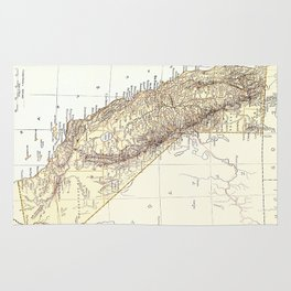 Vintage Map of California (1878)  Rug