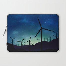 Palm Springs Windmills at Night Laptop Sleeve