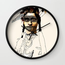 Painted Face Wall Clock