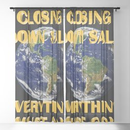 Everything Must Go 02 Sheer Curtain