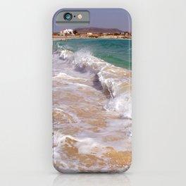 Spanish crystal clear beach iPhone Case