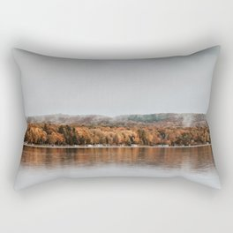 Autumn Lake in Michigan Rectangular Pillow