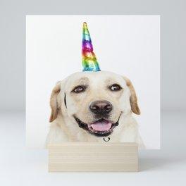 Funny Cute Unicorn Labrador Mini Art Print
