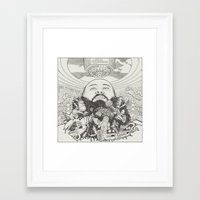 action bronson Framed Art Prints featuring ACTION BRONSON by samellisdesign