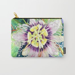 Passiflora edulis f. flavicarpa – Liliko'i, Water Color Carry-All Pouch