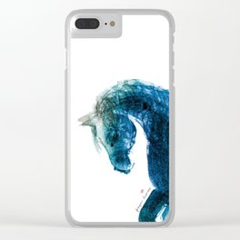 Horse (Meadow 2) Clear iPhone Case