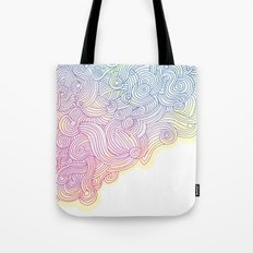 Swirling clouds in the heavens Tote Bag