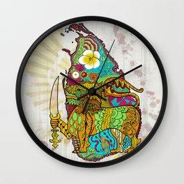 Abstract SL Wall Clock