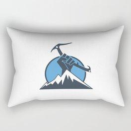 Ice Climbing Power Rectangular Pillow