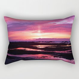 Deep Red Saturated Sunset  Rectangular Pillow