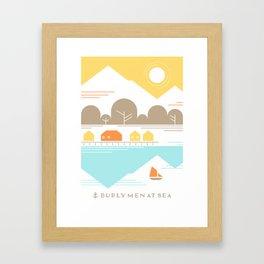Burly Men at Sea Village Framed Art Print