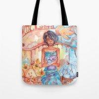 libra Tote Bags featuring Libra by Trenita