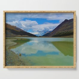 Sunwapta Lake at the Columbia Icefields in Jasper National Park, Canada Serving Tray