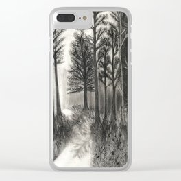 Forested Clear iPhone Case