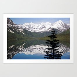 Mountain Reflection with Lone Pine Art Print