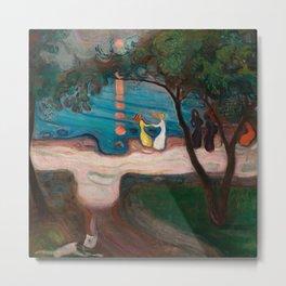 Dance on the Shore, Edvard Munch Metal Print