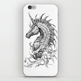 Dark Side Unicorn iPhone Skin