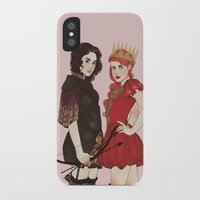 arya iPhone & iPod Cases featuring A Queen & her Knight by Noble Demons