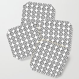 Evil Eye Amulet Talisman Black White Gray on white Coaster