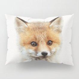 Baby Fox, Baby Animals Art Print By Synplus Pillow Sham