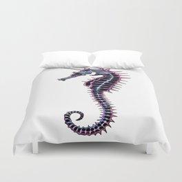 dead seahorse unicorn Duvet Cover