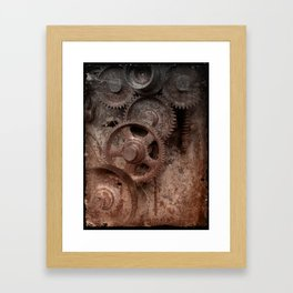 Gear mechanism (shade) Framed Art Print
