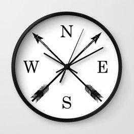 Arrows NSEW Wall Clock