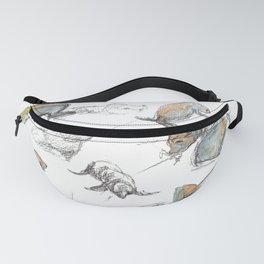 sketch of New zealand seals Fanny Pack