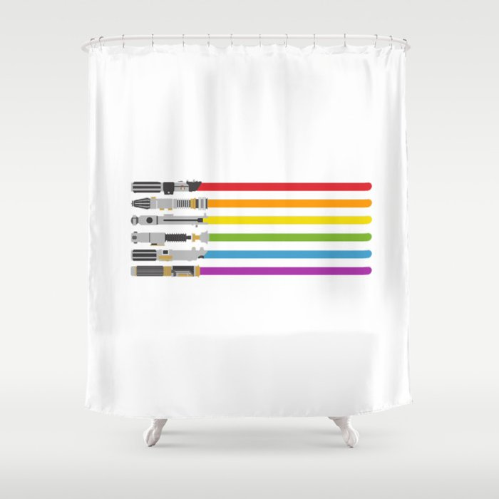 Lightsaber Rainbow Shower Curtain