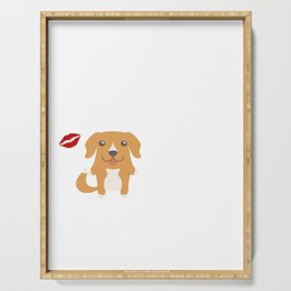 I Kissed A Toller And I Liked It Cute Dog Kiss Gift Idea Serving Tray