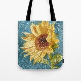 Sunflower Painting, Watercolor Sunflower, Sunflower Art,Sunflower Wall Art Tote Bag