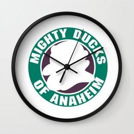 mighty ducks hockey Wall Clock