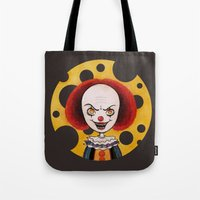 pennywise Tote Bags featuring Pennywise Cheese by ajd.abelita